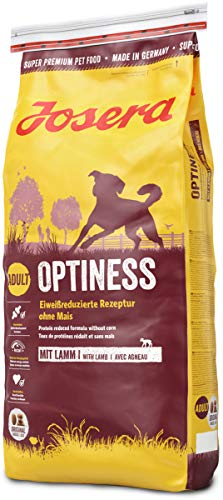 JOSERA Optiness, dog food with reduced-protein recipe without corn, super premium dry food for adult dogs, 1-pack, (1 x 15 kg)