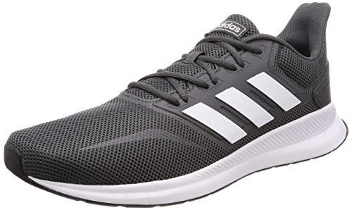 adidas Herren Runfalcon Laufschuhe, Grau (Grey/Footwear White/Core Black 0), 43 1/3 EU