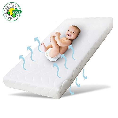 Ehrenkind Babymatratze Pur | Baby Matratze 70x140 | Kindermatratze 70x140 aus hochwertigem Schaum und Hygienebezug