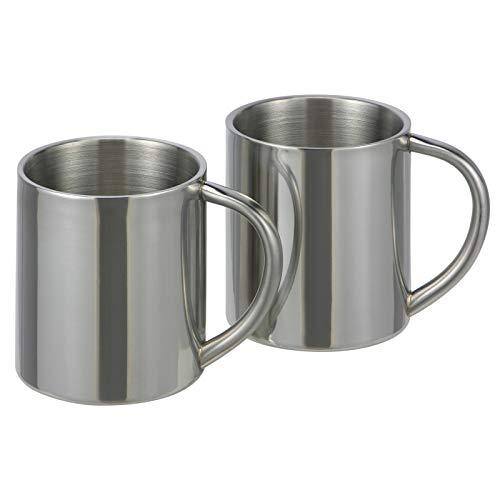 2 Pieces Stainless Steel Thermo Mug Mug Travel Mug Coffee Mug Vacuum Cup Mugs