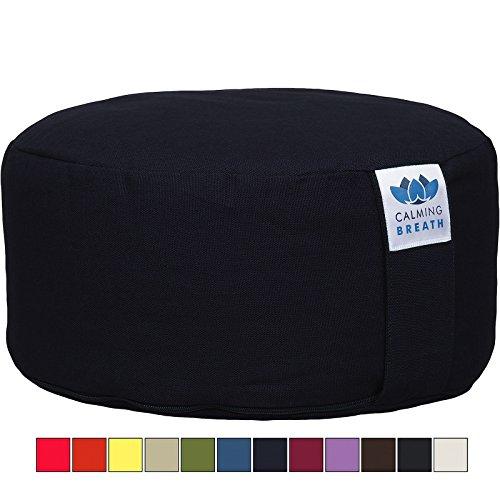 CalmingBreath Yoga Meditationskissen/Yogakissen – Bezug Waschbar - Einheitsgröße