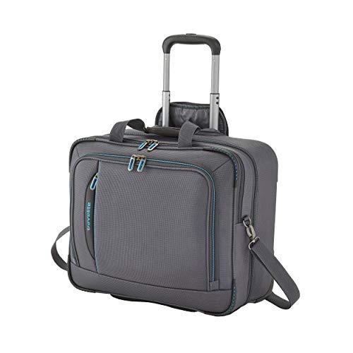 travelite 2-Rad Weichgepäck Koffer Handgepäck erfüllt IATA Bordgepäck Maß, mit Laptopfach bis 17 Zoll, Gepäck Serie CROSSLITE: Robuster Trolley im Business...