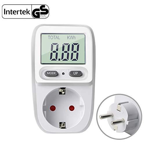 Gifort Energiekostenmessgerät Digitaler Stromverbrauch messen Leistungsmessgerät Strommessgerät Elektrizitäts Analysator Standby Verbrauchsmessung mit...