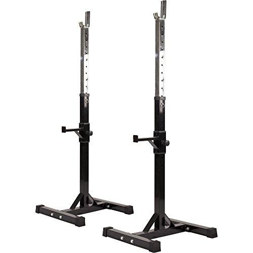 GORILLA SPORTS® Hantelständer - Höhenverstellbar, 52 x 53 x 105-172 cm, bis 400 kg Belastbar, aus Stahl - Hantelablage, Kniebeugenständer, Squat Rack,...