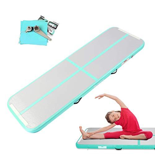 FBSPORT AirTrack Aufblasbar Gymnastikmatte Länge 3M Tumbling Matte Air Bodenschutzmatte für Gym Training Yogamatte Trainingsmatten Weichbodenmatte Turnmatte...