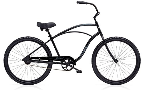 Electra Cruiser 1 Tall Herren Fahrrad 26' Schwarz Beach Cruiser Rad Retro Singlespeed, 513000