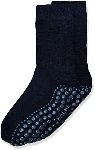 FALKE Kinder Stoppersocken Catspads, Baumwollmischung, 1 Paar, Blau (Dark Navy 6370), Größe: 27-30