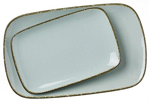 Ritzenhoff & Breker serving plates set Casa, 2 pieces, 24x15,5 cm and 33x20 cm, blue