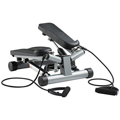 Ultrasport Swing Stepper inklusive Trainingsbändern / Hometrainer Stepper mit kabellosem Trainingscomputer - Up-Down-Stepper für Einsteiger und Trainierte, klein...