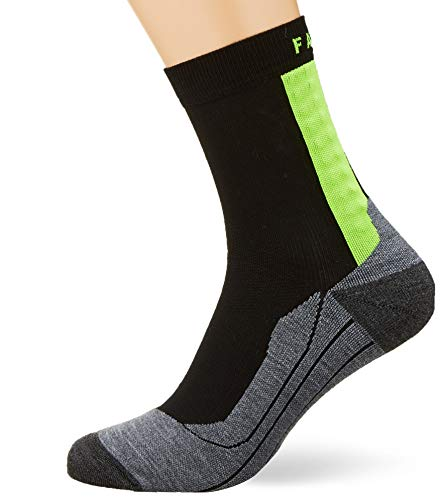 FALKE men's Achilles, calf-length sports socks - helps with Achilles tendon complaints - functional fiber, 1 pack, black (Black 3001), size: 42-43