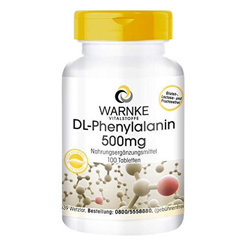 DL-Phenylalanin 500mg - 100 Tabletten - Phenylalanin Tabletten