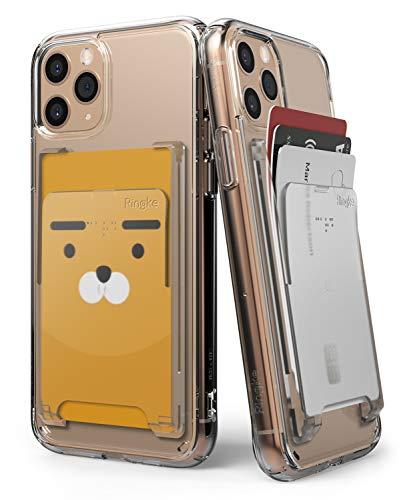 Ringke Slot Card Holder [Clear Mist] Handy Kartenhalter Kartenetui Kartenfach Kreditkartenetui für iPhone 12, iPhone SE 2020, Note 20 Ultra, Redmi Note 9 Pro, Mi...