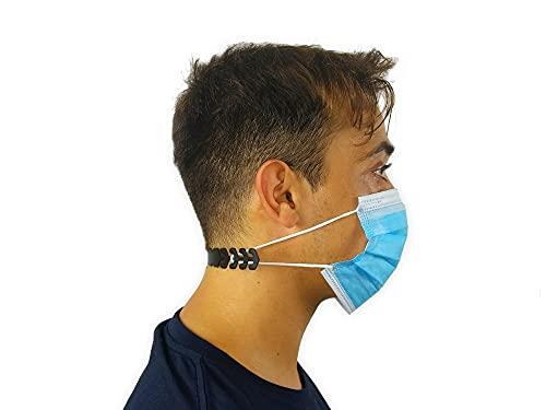 KMINA - Maskenhalter (x20 Stück), Maskenhalter Mundschutz, Maskenverlängerung, Maskenhaken, Einstellbarer Maskenhalter, Masken Verlängerungsriemen, Masken...