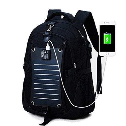 MAGIC UNION Laptop Rucksack Backpack Schulrucksack mit solar Charge für bis zu 15.6 Zoll Notebook Computer für Campus Studenten Arbeit Outdoor Reisen Wandern mit...