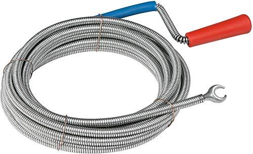 Meister Rohrreinigungswelle Ø 6 mm x 3 m - Flexible Spirale mit Kralle - Umweltfreundliche Lösung für hartnäckige...