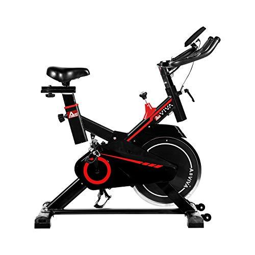 AsVIVA Indoor Cycle Speedbike S11 mit 18KG Schwungmasse, Riemenantrieb und Filzbremse, inkl. Fitnesscomputer, Handpulssensoren