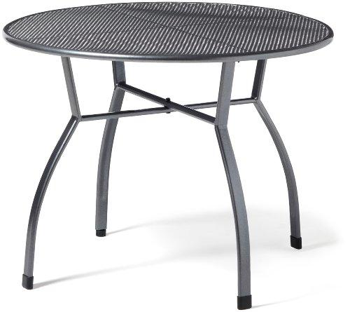 greemotion Gartentisch Toulouse rund, Ø ca.100 cm, pflegeleichter Tisch aus kunststoffummanteltem Stahl, Esstisch mit Niveauregulierung, eisengrau, 100 x 100 x 72...