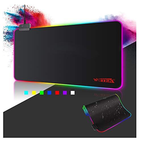 Pelihiirimatto RGB-hiirimatto 800x300 XXL Suuri 14 valaistustilaa sisältävä pelihiirimatto vesitiivis luistamattomuus tietokoneiden PC-ammattilaisille