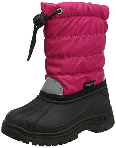 Playshoes gefütterte Kinder Winterstiefel, warme Schneestiefel mit Innenfutter , Pink (18 pink) , 22/23