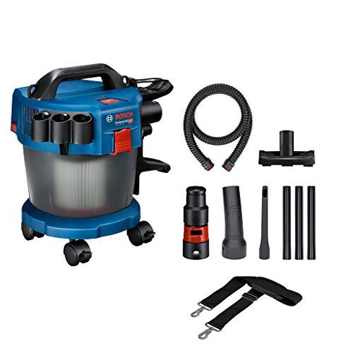 Bosch Professional 18V System Industriestaubsauger Gas 18V-10 L (ohne Akku, 1,6 m Schlauch, 3 Verlängerungsrohre, im Karton),Blau