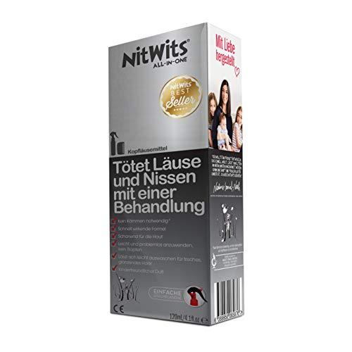 NitWits Lice Remedy Head Lice - all-in-one-täitä hylkivä spray täitä ja nittejä vastaan - tehokas vaihtoehto lapsille täiden shampoon ja täiden kampauksen sijasta, 120ml
