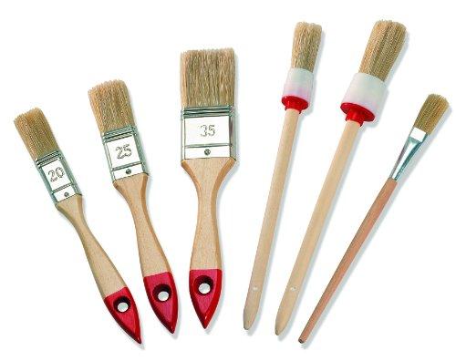 Color Expert Pinsel-Set, 6-teilig, helle Borste, 20 / 25 / 35 mm 82620510
