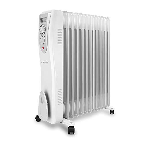 Aigostar Warm Snow 33JHF - 3000W Ölradiator Elektrische Radiatoren Heizkörper, Ölheizkörper mit 13 Rippen,3 Heizstufen und Thermostatsteuerung...