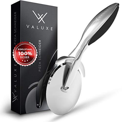 VALUXE® Premium Pizzaschneider mit Pizzamesser aus Edelstahl – Professioneller und sicherer Pizzaroller - Mit rutschfestem Griff - Für maximalen Erfolg in der...