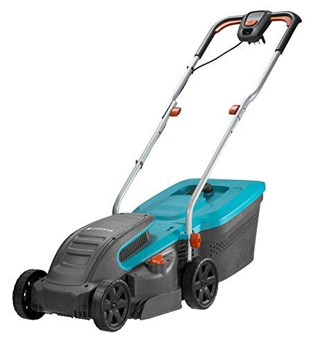 Gardena PowerMax 1200/32 electric lawn mower: lawn mower up to 300 m², 32 cm cutting width, 30 l capacity, cutting height 20-60 mm, folding linkage, ...