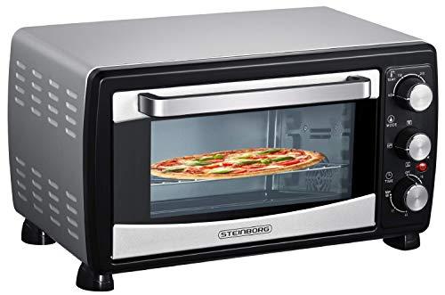 Mini Backofen 20 Liter | Pizza-Ofen | Minibackofen | 3in1 Backofen mit Umluft | herausnehmbares Krümmelblech | 100°C - 230°C | 1380 W | Ober-/Unterhitze |...