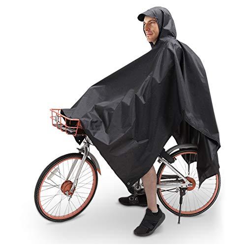 TBoonor Handschlaufen Fahrrad Poncho Premium Regenponcho mit Verstellbarer Kapuze reißfestes und Wasserdichtes Regenjacke Regenponcho Fahrrad Raincoat Regencape...