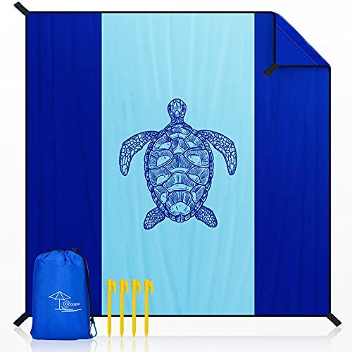 OCOOPA Stranddecke sandfrei XXL, 300x280cm Extra groß, Picknickdeck wasserdicht weiches und strapazierfähiges Meterial, leicht und tragbar, perfekt für Reisen,...