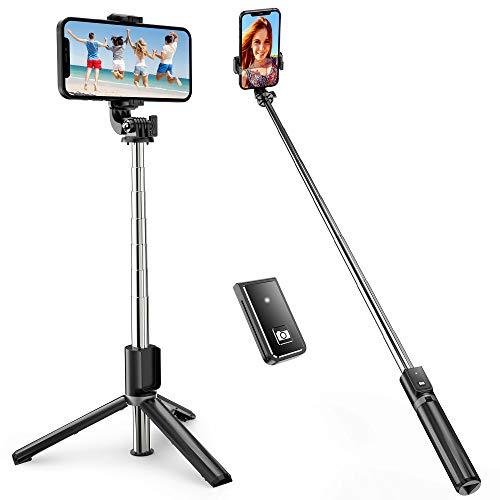 ATUMTEK Selfie Stick Dreifuß, Ausdehnbarer Bluetooth Selfie Stick mit 100CM Selfiestick für TikTok iPhone 12/11/11 Pro/X/XS/8/7 Plus, Samsung Galaxy S10, Huawei...