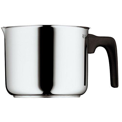WMF Milchtopf Induktion ohne Deckel 14 cm, kleiner Topf 1,7l, Cromargan Edelstahl poliert, Schüttrand, Kunststoffgriff, spülmaschinengeeignet