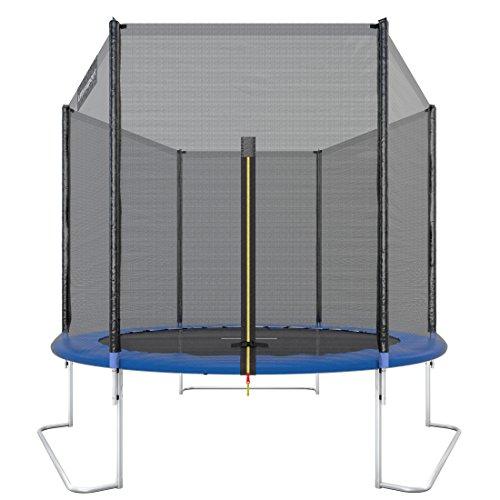 Ultrasport outdoor garden trampoline jumper, TÜV Nord GS certification, trampoline complete set including jumping mat, safety net, padded net posts and ...