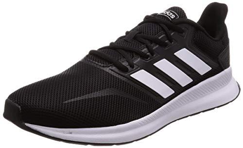 adidas Herren Falcon Laufschuhe,Schwarz (Core Black/Footwear White/Core Black 0),43 1/3 EU