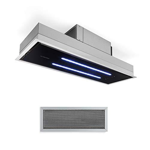 Klarstein High Line Deckenhaube, Einbau, 90 cm, 410 m3/h, Umluft und Abluft, 3 Stufen, LED, Fernbedienung & Aktivkohlefilter, Dunstabzugshaube, Unterbauhaube,...