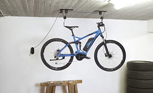 FISCHER Deckenlift | Fahrradlift | bis 30kg | für E-Bikes geeignet | max. Deckenhöhe 4m | mechanisch | Garagenlift