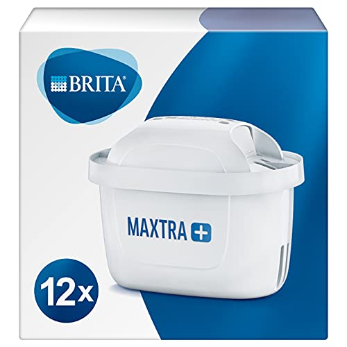 BRITA Wasserfilter-Kartusche MAXTRA+ 12er Pack – Kartuschen für alle BRITA Wasserfilter zur Reduzierung von Kalk, Chlor & geschmacksstörenden Stoffen im...