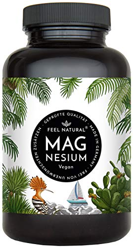Magnesium capsules - 365 pieces (1 year). 664mg per capsule, of which 400mg ELEMENTAL (pure) magnesium - higher content than magnesium citrate. Laboratory Tested ...