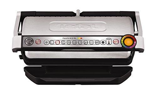 Tefal OptiGrill XL GC722D Kontaktgrill (mit XL-Grillfläche, Plus-Modell mit zusätzlichen Temperaturstufen, automatische Anzeige des Garzustands, 9 voreingestellte...