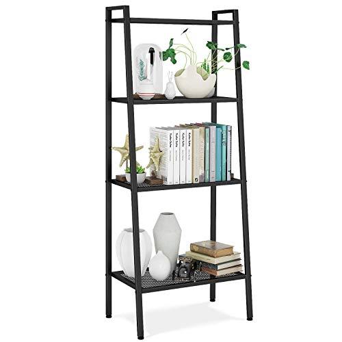 Homfa bookshelf metal shelf shelf ladder shelf shelf shelf storage rack bathroom shelf tier shelf plant shelf with 4 shelves 60x35x147cm