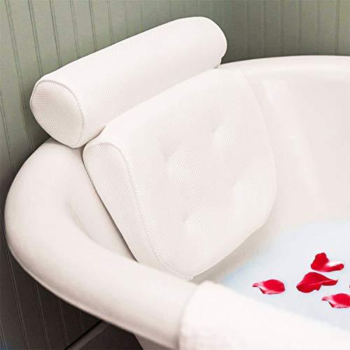 Essort Badewannenkissen,Komfort badewanne kopfkissen mit Saugnäpfen, badewanne nackenpolste für Home Spa Whirlpools, Badekissen Kopfstütze (38 x 36 x 8.5 cm)...