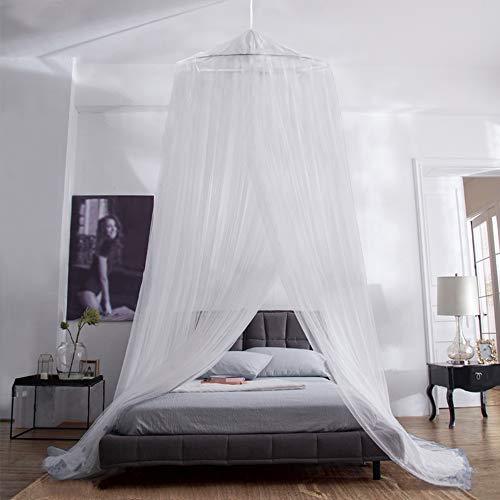 iRainy Moskitonetz Bett, Groß Mückennetz inkl. Montagematerial, Betthimmel, Mückenschutz, MoskitoschutzF,Fliegennetz auch auf der Reise