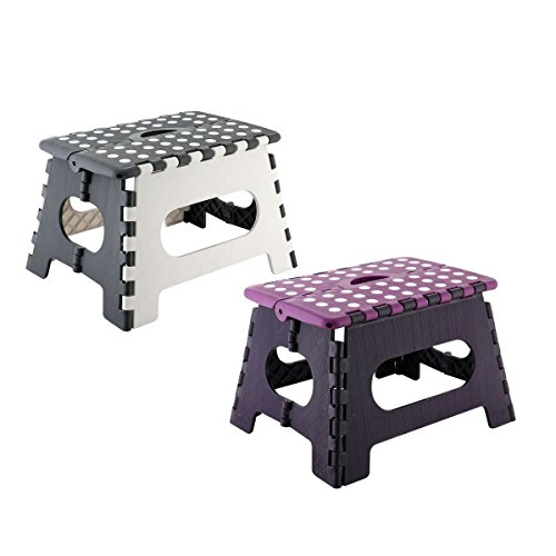 axentia folding stool, made of plastic, folding stool stable up to 150 kg, assorted colors