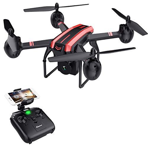 SANROCK X105W Drohne mit 720P HD Kamera für Kinder Anfänger Drohne FPV ° Weitwinkel RC Quadrocopter, Headless-Modus, Höhenlage halten,...