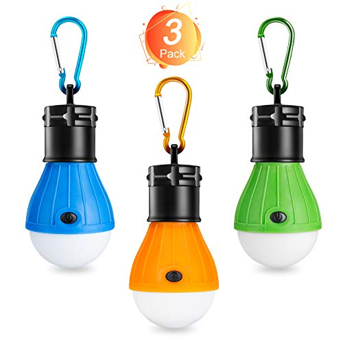 Winzwon Camping Lamp, LED Camping Lantern, Portable Tent Lamp Lantern Light Bulb Set-Emergency Light COB 150 Lumens Waterproof Camping Light for Camping Adventure Fishing ...
