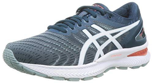 ASICS Mens Gel-Nimbus 22 Running Shoe, Light Steel/Magnetic Blue,44.5 EU