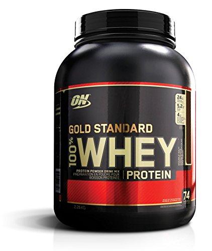Optimum Nutrition ON Gold Standard Whey Protein Pulver, Eiweißpulver Muskelaufbau mit Glutamin und Aminosäuren, natürlich enthaltene BCAA, Double Rich Chocolate,...