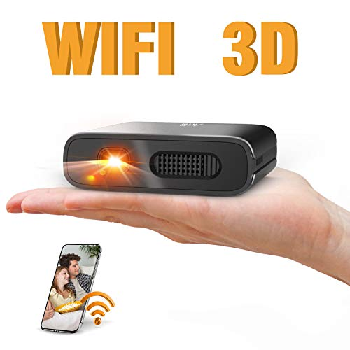 Artlii Mana Mini Beamer - WiFi Beamer DLP Beamer Supports 3D and 1080P Built-in 5200mAh Small Beamer Supports AirPlay Miracast Compatible ...
